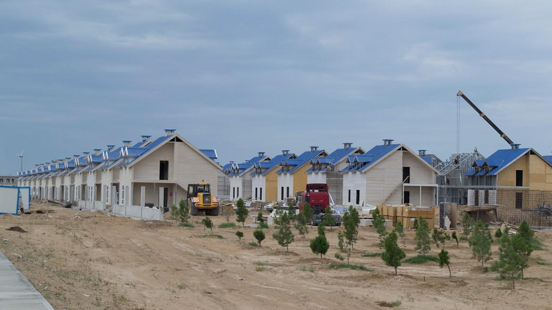 Duplex modular homes awaza villa project tianjin qsh co ltd for Duplex project homes